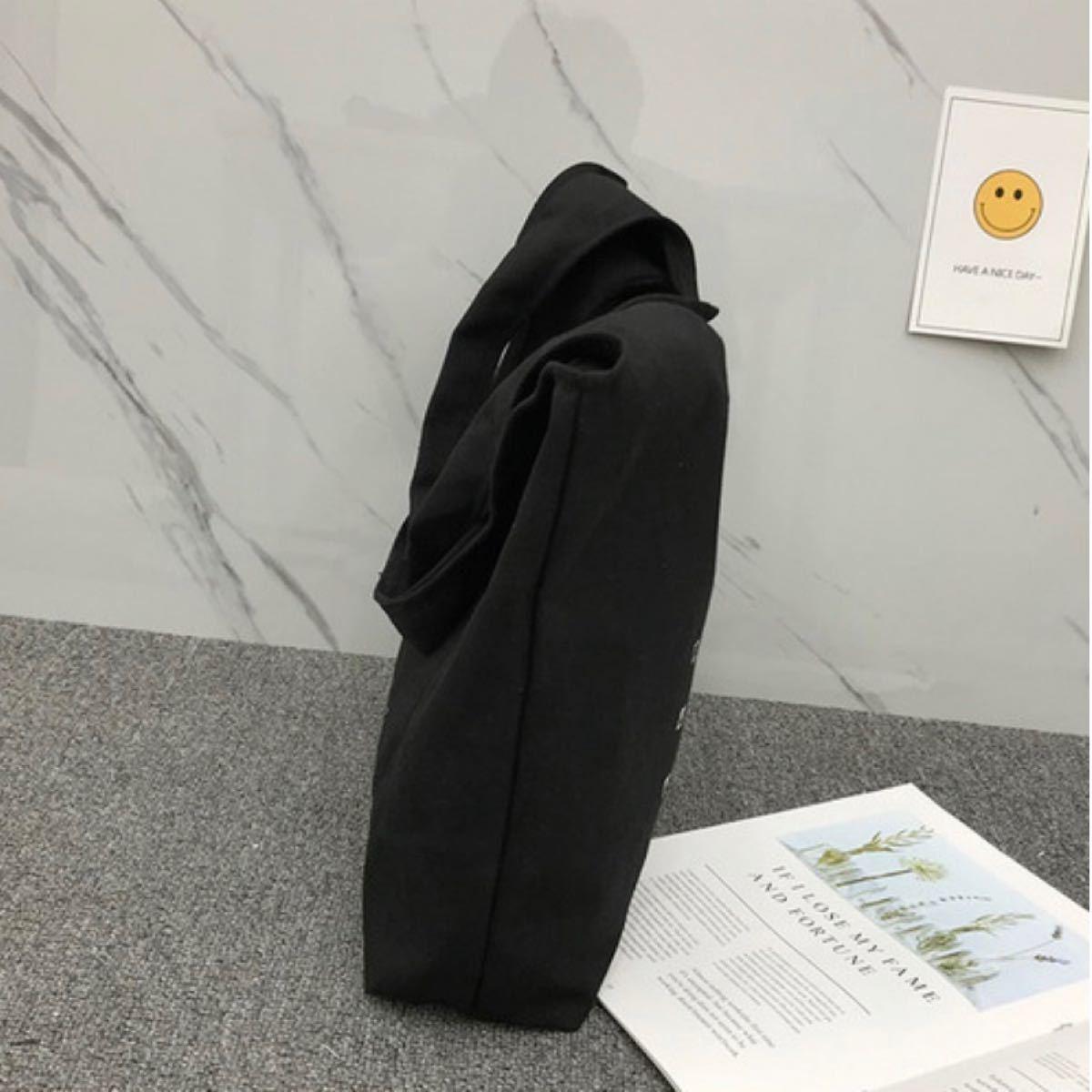 【 送料込 新品 】 ロゴ トートバッグ マルシェバッグ  通学 韓国 A4対応 エコバッグ