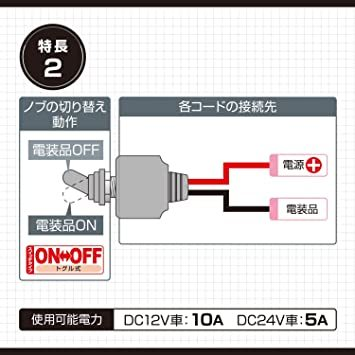 お買い得限定品 【Amazon.co.jp 限定】エーモン 防水トグルスイッチ (防水性能IPX規格4相当) シリコン製キャップ_画像3