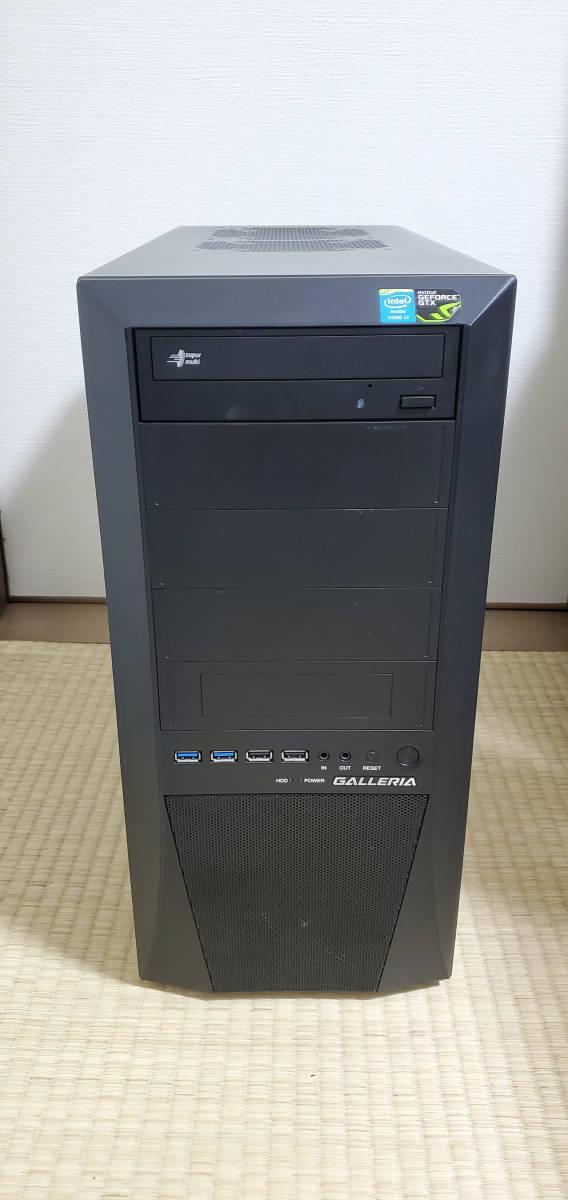 ★値下げ★ゲーミングPC Core i7 4770/GTX1060/8GB/SSD480GB(新品)/1TB/高品質電源 *4K出力&4画面同時出力OK ゲームパソコン P015_画像1