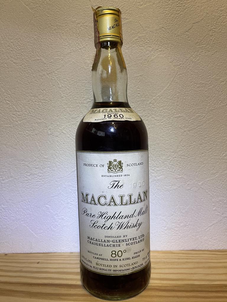 THE MACALLAN 1960 80proof イタリア向け マッカラン 1960 80プルーフ RINALDI IMPORT 未