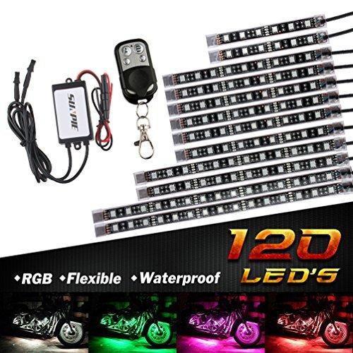 ◇★▽12本 12PCS バイク用 RGB LEDテープライト バージョンアップ版 MOTOSTAR オートバイ イルミネーショ