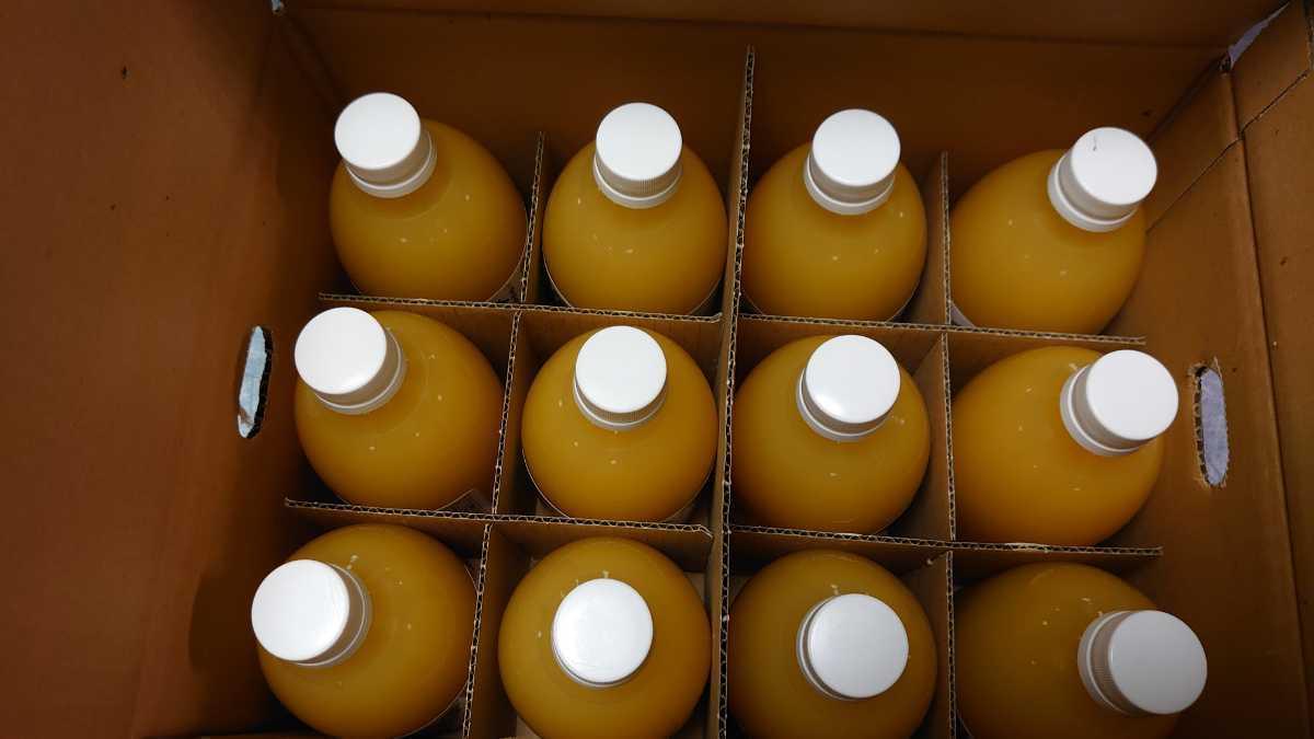 愛媛県産100%ストレート果汁あま~い!味比べ3種セット!みかん、きよみ、デコタン(不知火)500㎜3種×4本、12本入みかんジュース_画像4