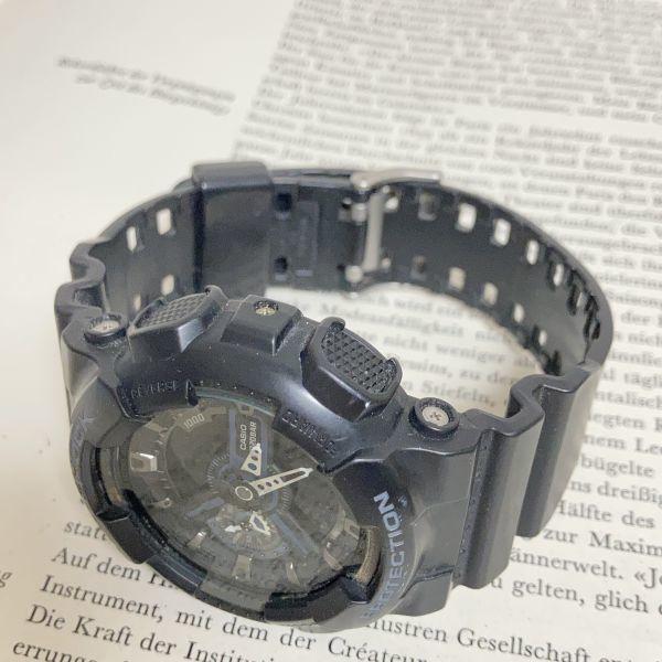 ★CASIO G-SHOCK デジアナ 多機能 メンズ 腕時計 ★ カシオ G-ショック GA-110 アラーム クロノ タイマー ブラック 稼動品 F3830_画像7