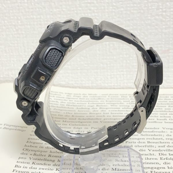 ★CASIO G-SHOCK デジアナ 多機能 メンズ 腕時計 ★ カシオ G-ショック GA-110 アラーム クロノ タイマー ブラック 稼動品 F3830_画像5