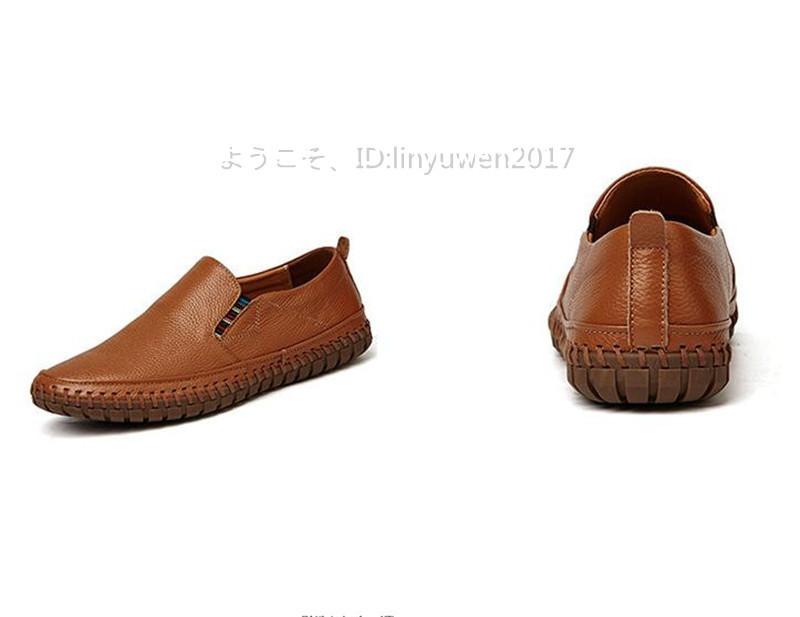 スリッポン 新品*メンズ ローファー ドライビングシューズ 紳士靴 カジュアル 滑り止め 柔らかい 通学 ブラウン 24.5cm_画像5