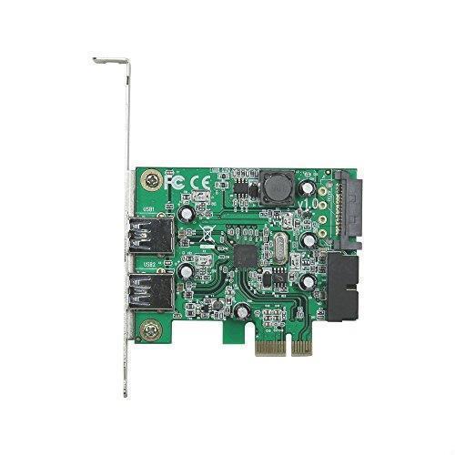 !- 玄人志向 STANDARDシリーズ PCI-Express接続 USB3.0外部2ポート増設カード LowProfile対応 USB3.0RA-P2H2-PCIE_画像1