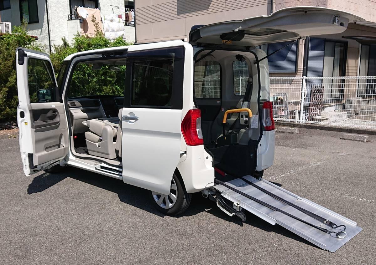 「福祉車両 車いす移動車 特種 タント スローパーX SAⅡ プッシュスタート リアシートあり 車検令和3年8月 Tチェーン 」の画像1