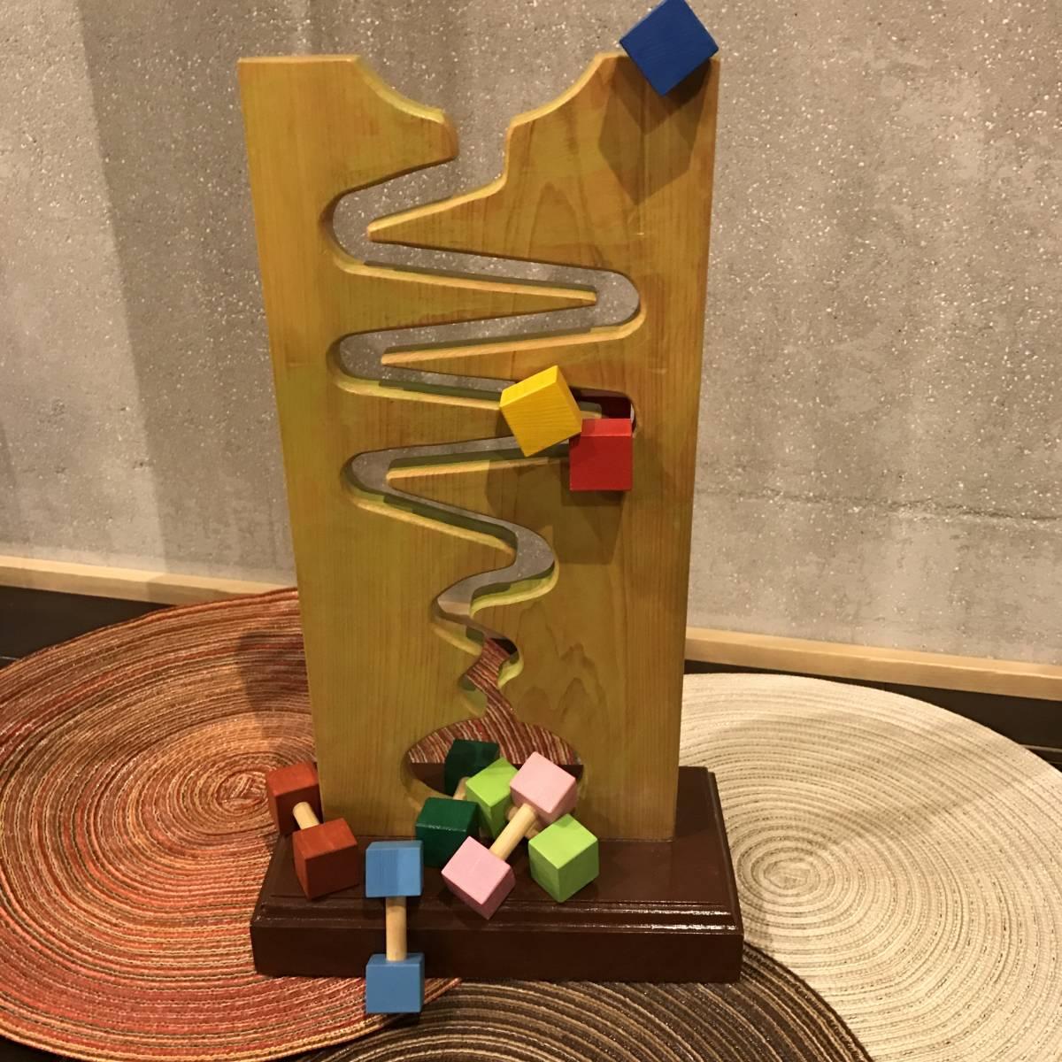 ハンドメイド 手作り ウッド 木工 子どもの知育玩具 くねくねコロコロ遊び コマ8個セット