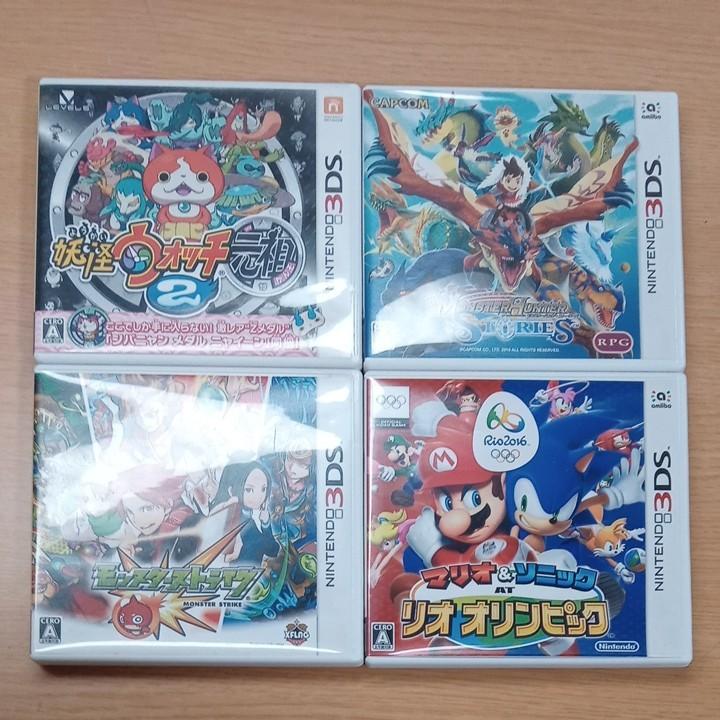 3DSソフト  妖怪ウォッチ モンハン モンスト マリオ&ソニ
