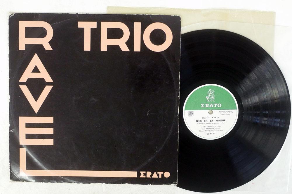 仏 竪琴フラット盤 リュセット・デカーヴ,パスキエ/ラヴェル ピアノ三重奏曲/ERATO DP 43. 1_画像1