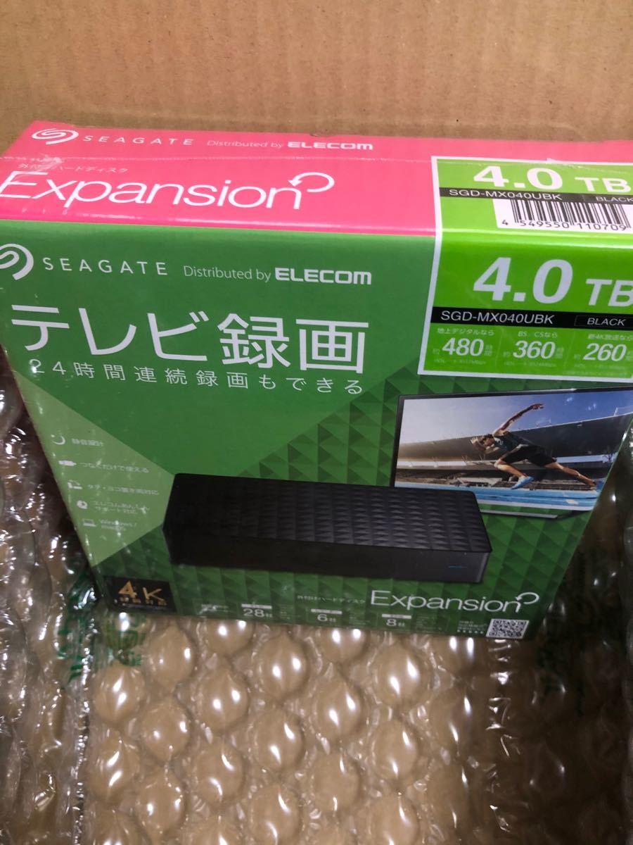 【新品・未開封】SEAGATE(エレコム) 4.0TB  HDD SGD-MX040UBK  外付けHDD 【送料無料・匿名配送】