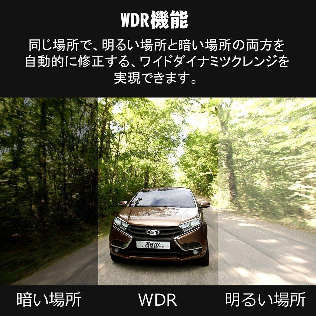 ドライブレコーダー 1.5インチ 1080P フルHD 120度広角レンズ 車載カメラ WDR ループ録画 駐車監視 モーション検知 Gセンサー 日本語_画像3