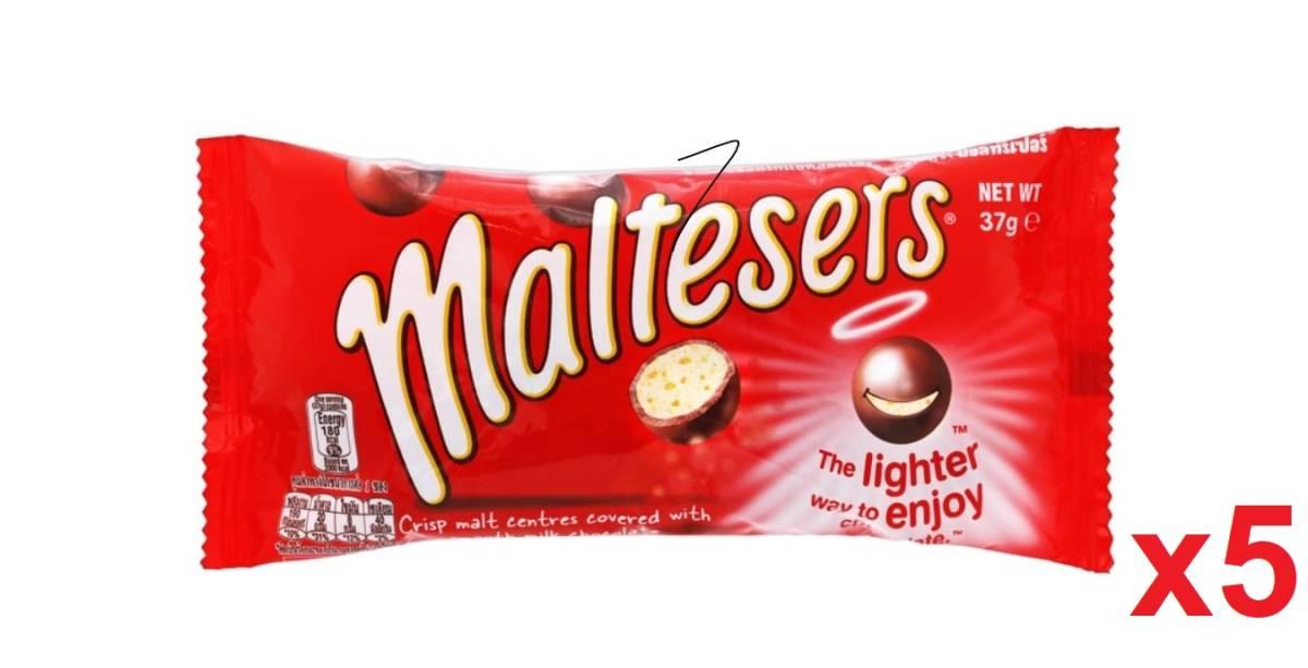 香港直送品 / Maltesers モルティーザーズ ミルク チョコレートボール 37gx5袋セット ★今話題のmaltesers♪♪ 海外の大人気チョコ!!_画像1