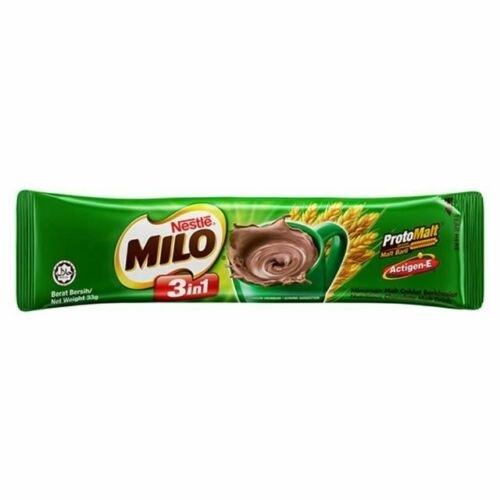 香港直送品 / Nestle Milo 3 In 1 Nutritious Malt Drink 栄養機能食品 カルシウム 朝食 牛乳 ココア ネスレ ミロ◆27g * 8個入り _画像3