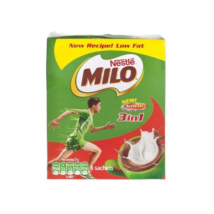 香港直送品 / Nestle Milo 3 In 1 Nutritious Malt Drink 栄養機能食品 カルシウム 朝食 牛乳 ココア ネスレ ミロ◆27g * 8個入り _画像2
