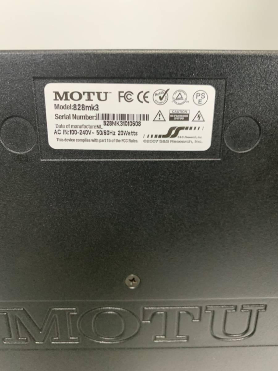 MOTU 828mk3 オーディオインターフェイス 保証付き_画像3