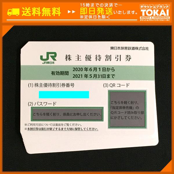 TH6h [送料無料/48時間以内決済] JR東日本 東日本旅客鉄道 株主優待券 4割引券×10枚 2021年5月31日まで_画像1