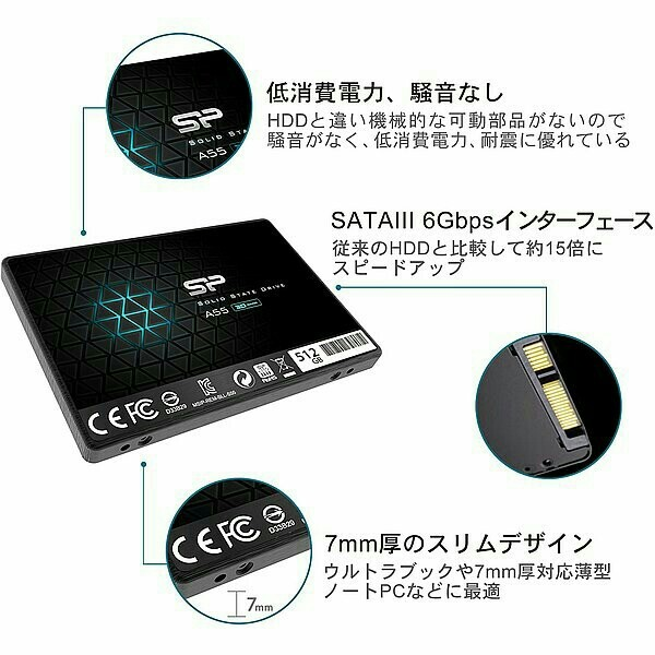 【SSD 256GB】シリコンパワー Ace A55 w/USB