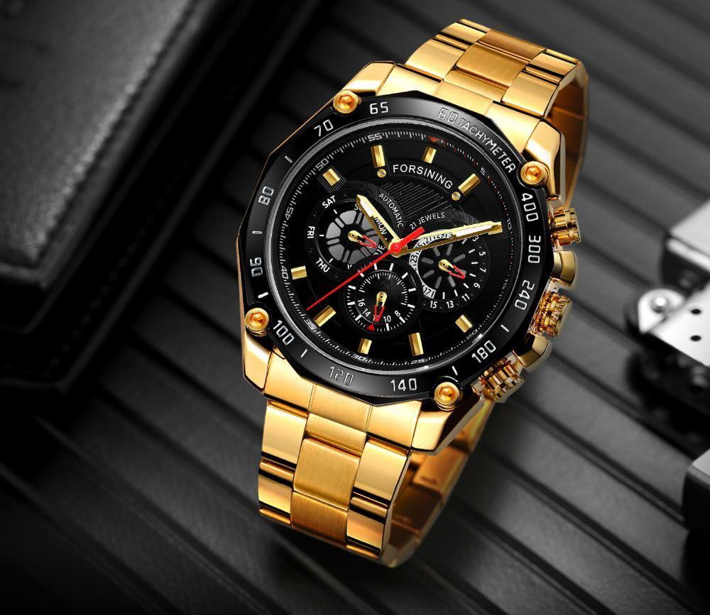 ☆最安高級★男性腕時計 43mm 機械式 自動巻き 多機能 カレンダー 曜日表示 メンズウォッチ ステンレス 夜光 防水 カジュアル S/W 1281_画像1
