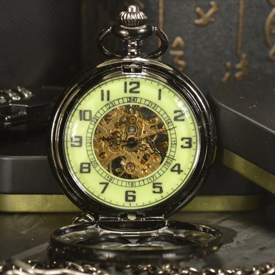 新品◇最安 懐中時計 TIEDAN 海外ブランド 高級 手巻き スチームパンク スケルトン 機械式 アンティーク TDPK021 ネックレス 1232_画像3