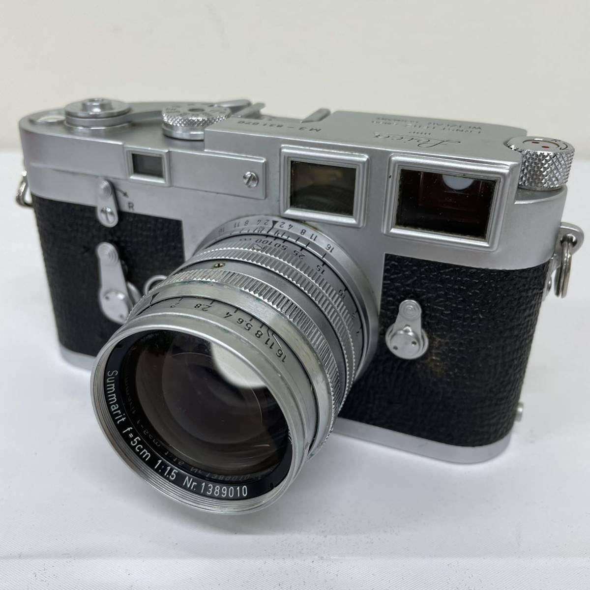 Leica ライカ M3 動作未確認 フィルムカメラ レンジファインダー レンズ summarit f=5cm