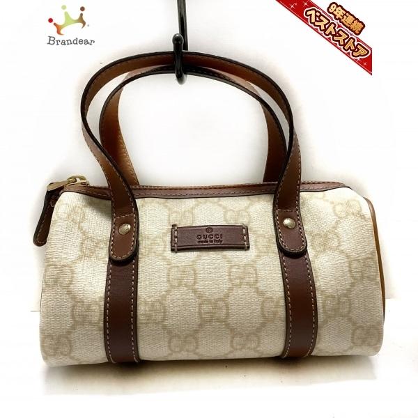 グッチ GUCCI ハンドバッグ 190400 GG柄 コーティングキャンバス×レザー アイボリー×ダークブラウン ミニサイズ バッグ