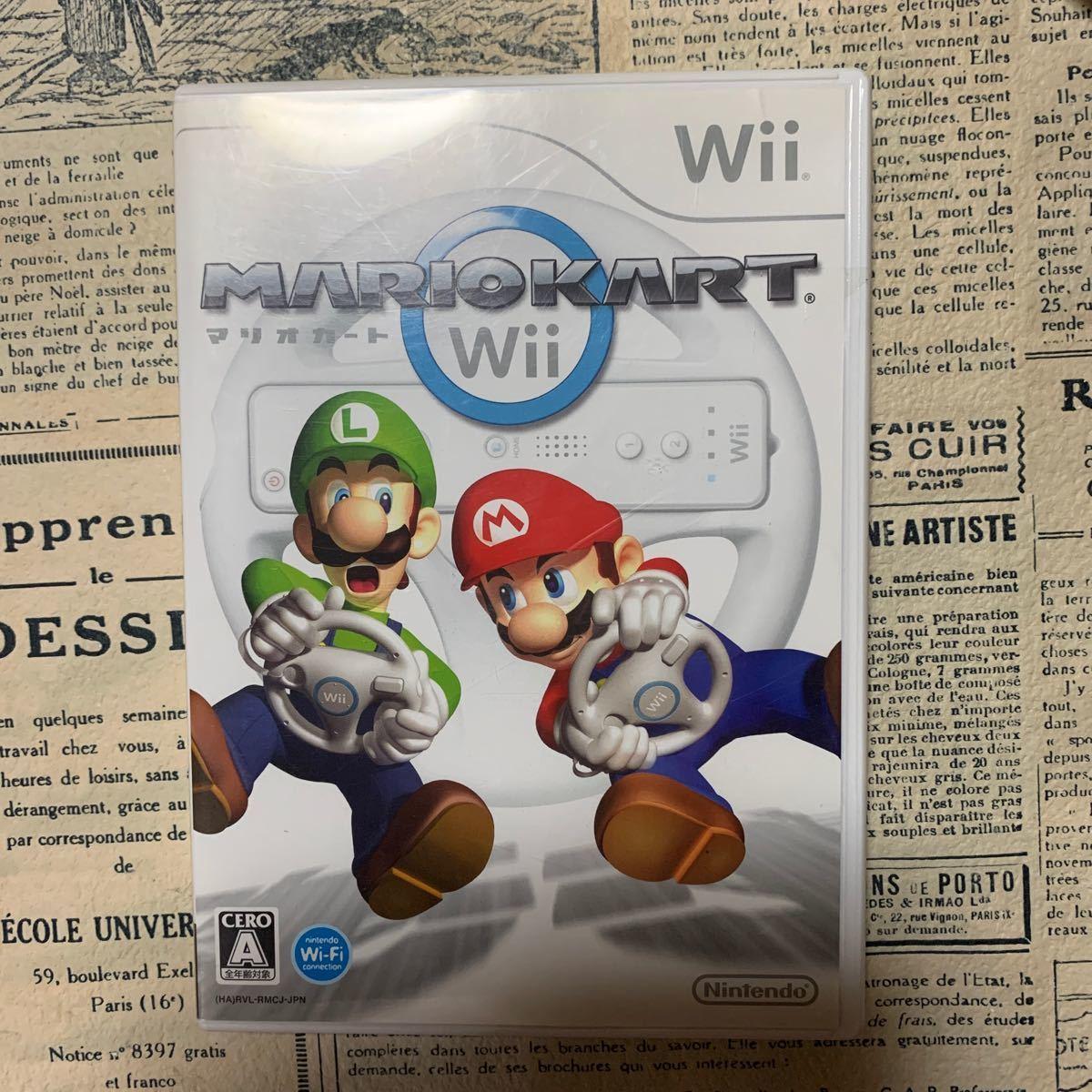 マリオカートWii+Wiiハンドル3つセット