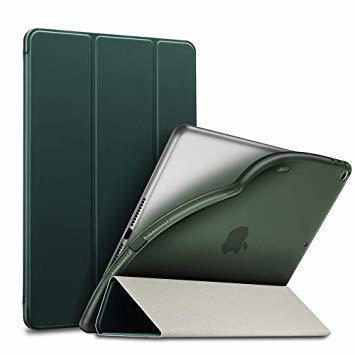 グリーン ESR iPad Mini 5 2019 ケース 薄型 PU レザー スマート カバー ソフト TPU 背面 ケース_画像1