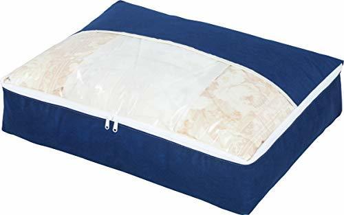 新品  アストロ ネイビー アストロ 羽毛布団 収納袋 シングル用 不織布 コンパクト 優しく圧縮 131-28_画像1