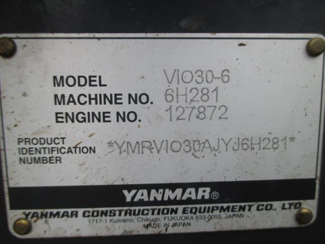 ヤンマー ミニバックホー(油圧ショベル) 2018年式 VIO30-6_画像3