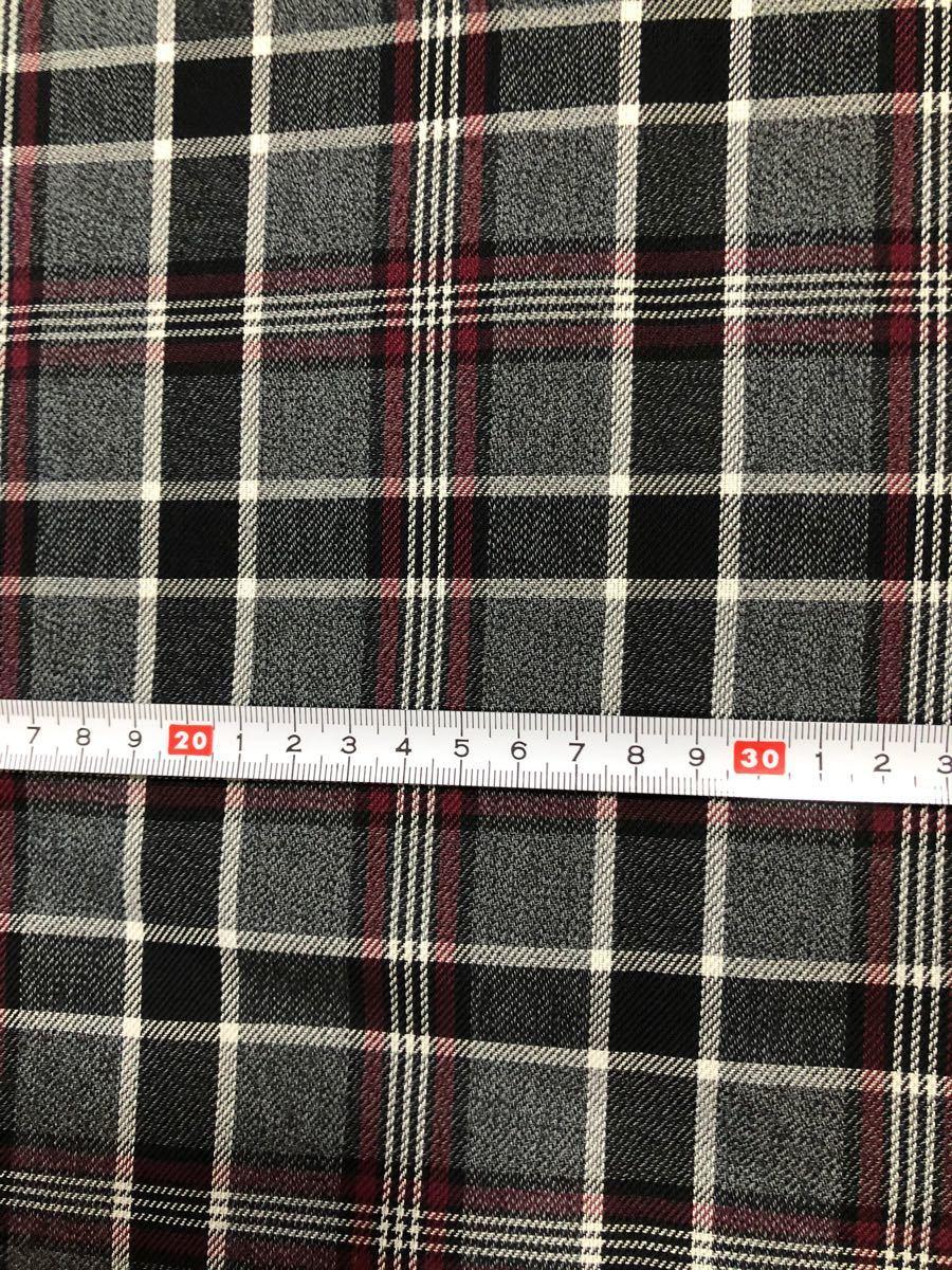 チェック柄 2種 ハギレ カットクロス 生地幅×100cm 合わせて200cm