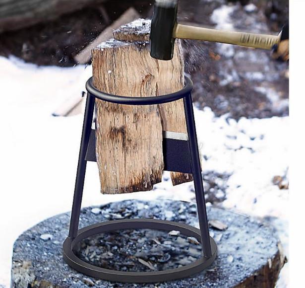 薪割り 便利 薪割り機 薪割器 薪ストーブ 木割り キャンプCZ-742_画像1