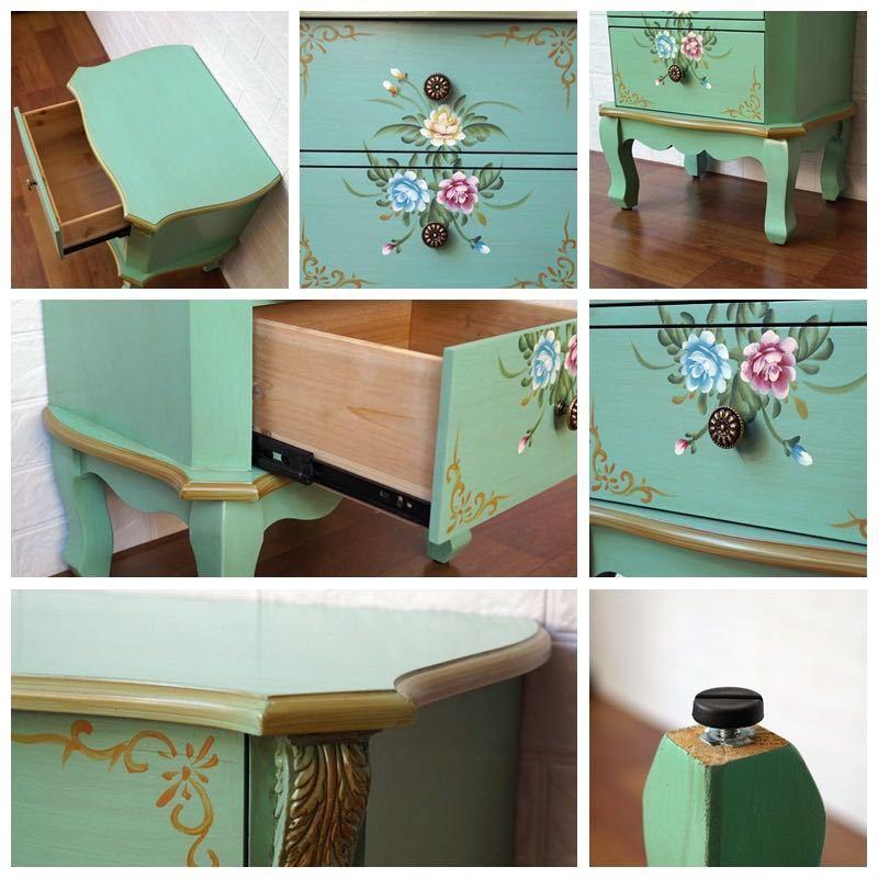 ベッドサイドテーブル 置台 サイドテーブル ナイトテーブル 高級感 アンティーク風 ソファーテーブルCZ-706_画像4