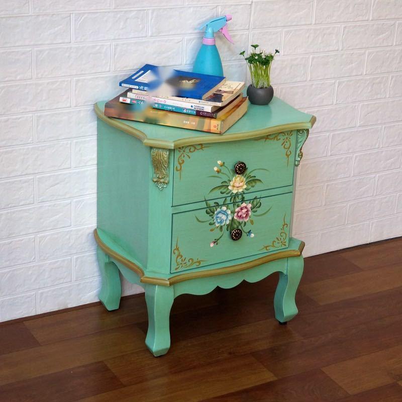 ベッドサイドテーブル 置台 サイドテーブル ナイトテーブル 高級感 アンティーク風 ソファーテーブルCZ-706_画像2