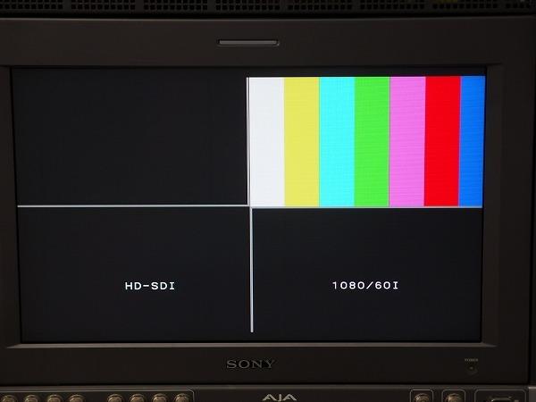 FOR.A 朋栄 MV-704H 4画面表示装置 HD-SDI マルチビューワー 映像切替/確認 防犯カメラなど *319191_画像3