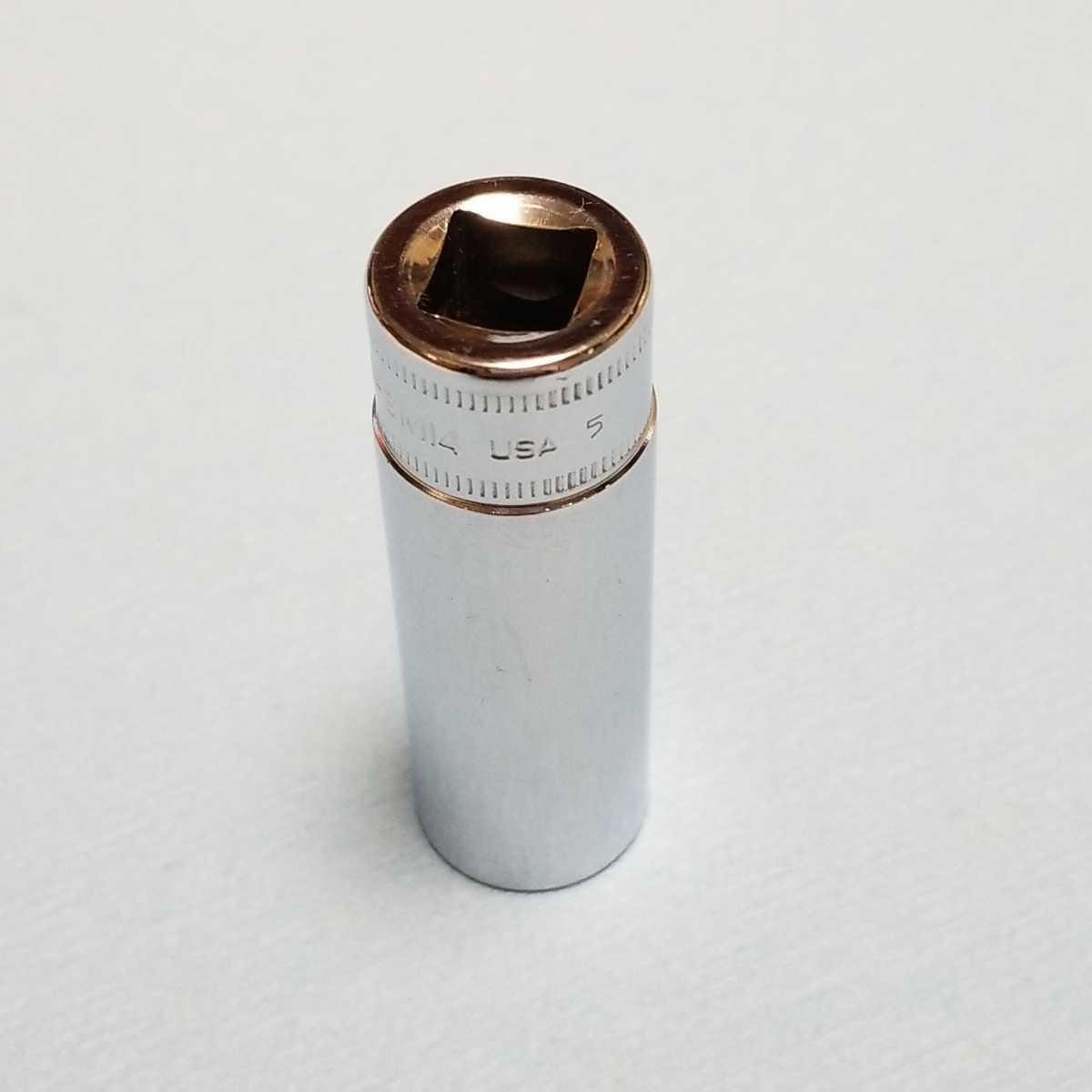 14mm 3/8 ディープ スナップオン SFSM14 (6角) 中古品 美品 保管品 SNAPON SNAP-ON ディープソケット ソケット 送料無料 Snap-on _画像2