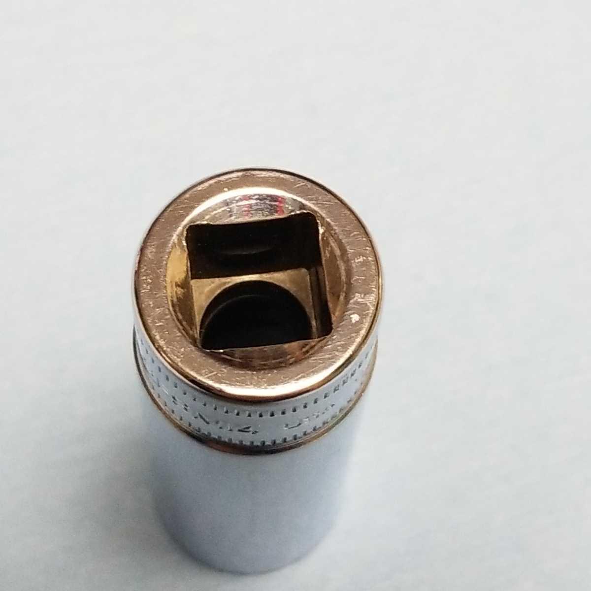 14mm 3/8 ディープ スナップオン SFSM14 (6角) 中古品 美品 保管品 SNAPON SNAP-ON ディープソケット ソケット 送料無料 Snap-on _画像7