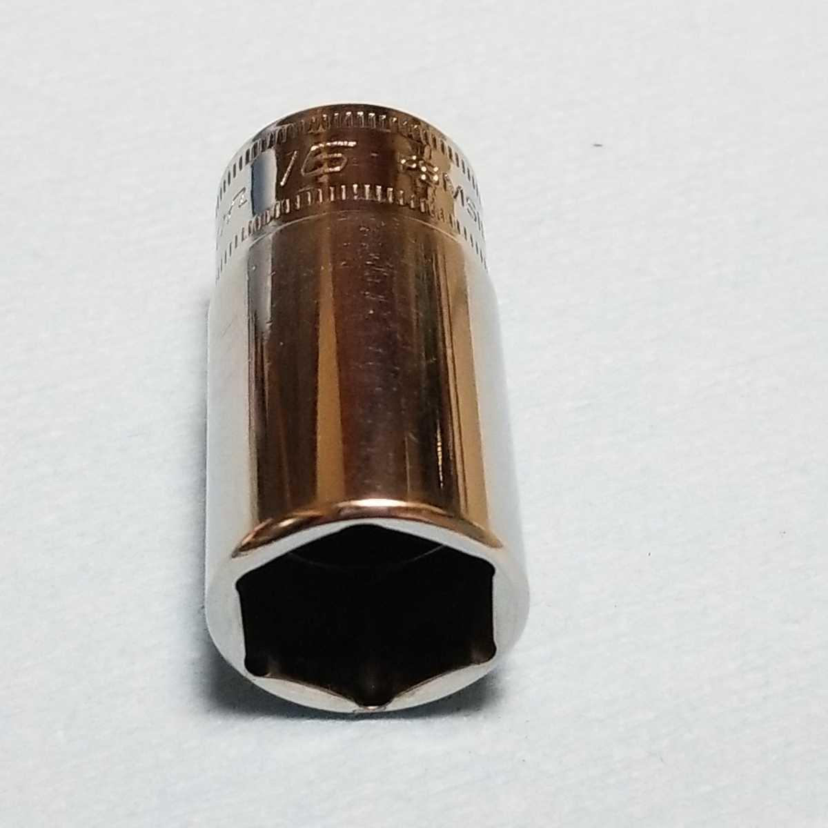 16mm 3/8 セミディープ スナップオン FSMS16 (6角) 中古品 美品 保管品 SNAPON SNAP-ON セミディープソケット ソケット 送料無料 _画像1