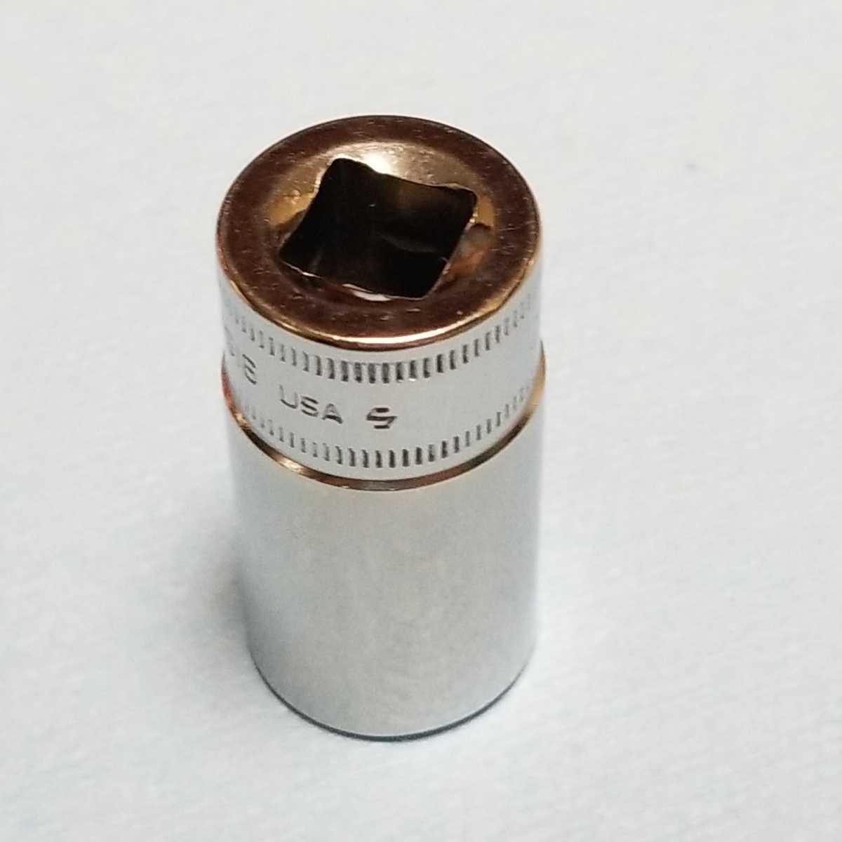 16mm 3/8 セミディープ スナップオン FSMS16 (6角) 中古品 美品 保管品 SNAPON SNAP-ON セミディープソケット ソケット 送料無料 _画像2