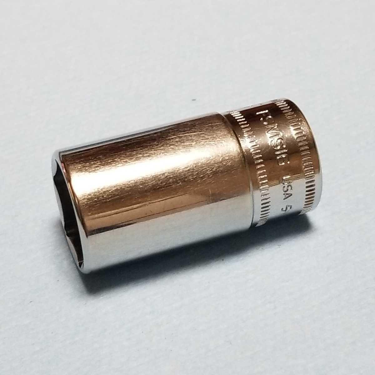 16mm 3/8 セミディープ スナップオン FSMS16 (6角) 中古品 美品 保管品 SNAPON SNAP-ON セミディープソケット ソケット 送料無料 _画像8