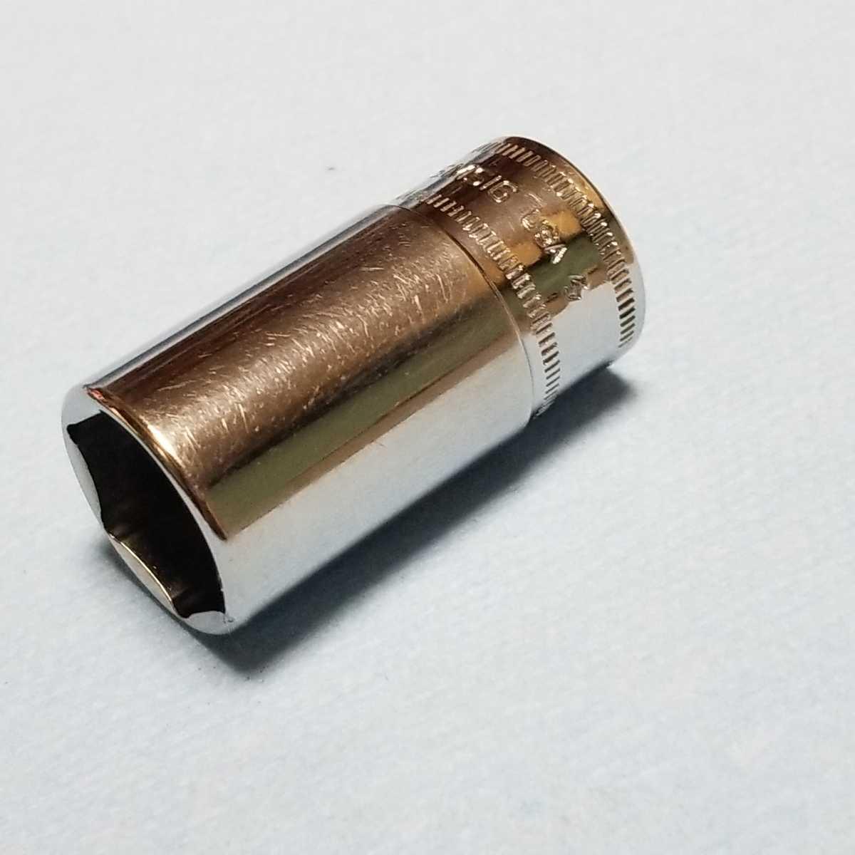 16mm 3/8 セミディープ スナップオン FSMS16 (6角) 中古品 美品 保管品 SNAPON SNAP-ON セミディープソケット ソケット 送料無料 _画像5
