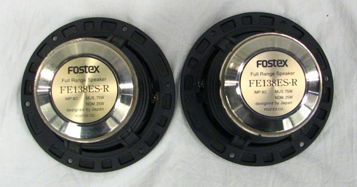 1円スタート フルレンジスピーカー Fostex FE138ES-R フォステクス_画像5