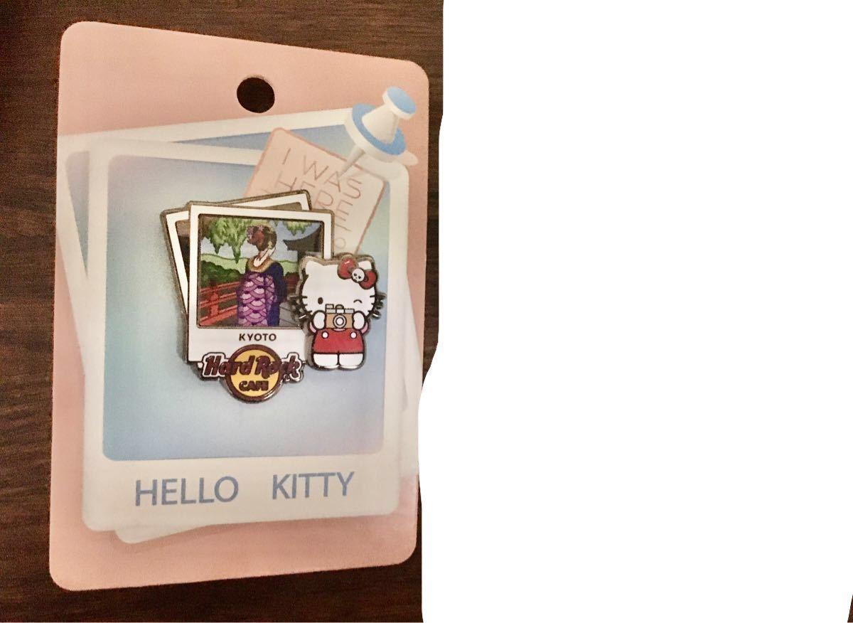 ハードロックカフェ 京都 Hard Rock Cafe Kyoto ハローキティ ピンズ 2種 ピンバッジ Hello kitty
