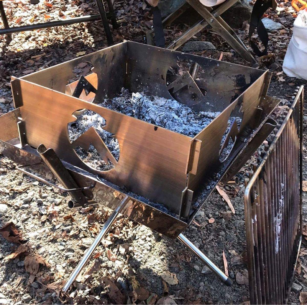 CAMPING MOONキャンピングムーン 焚き火サークルプレートLサイズ ケース付 TKB405 焚火プレート 焚火台プレート