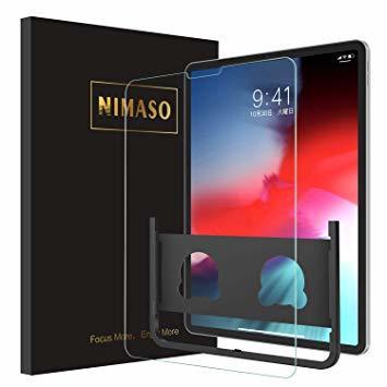 高透過率 日本製素材旭硝子製 iPad Pro 12.9インチ (2020/2018) Nimaso【ガイド枠付き】iPad P_画像1