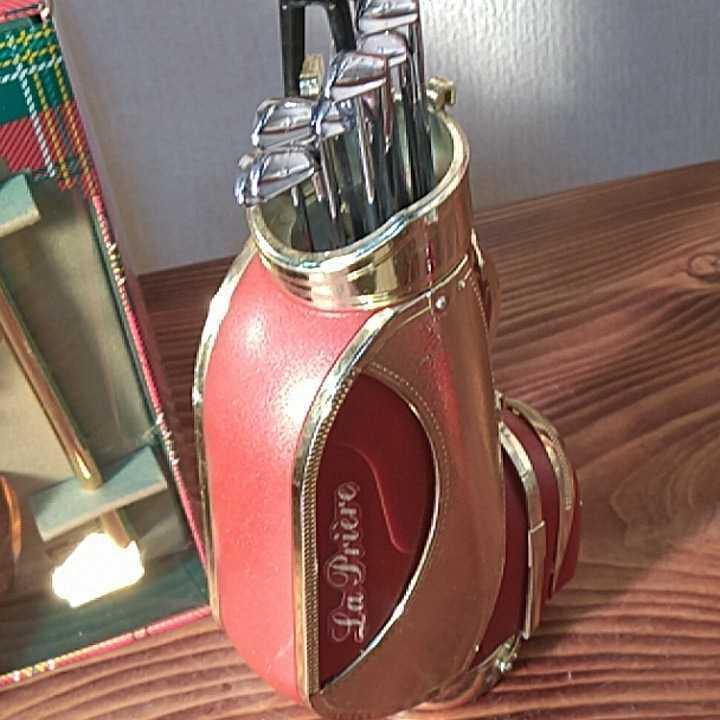 カミュXOミニボトル試飲見本50ml サントリーVSOPミニボトル50ml ラ・プリエール、ミニボトルゴルフバッグ 現状渡し品_画像6