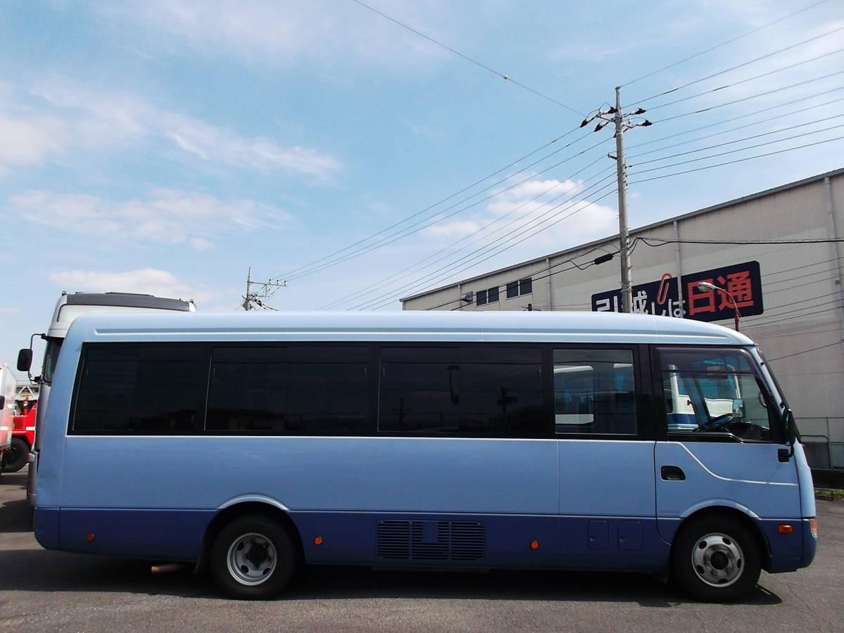 「★H27年6月三菱ローザ ハイルーフロング マイクロバス 29人乗 AT 自動スイングドア Nox,PM適合 」の画像3