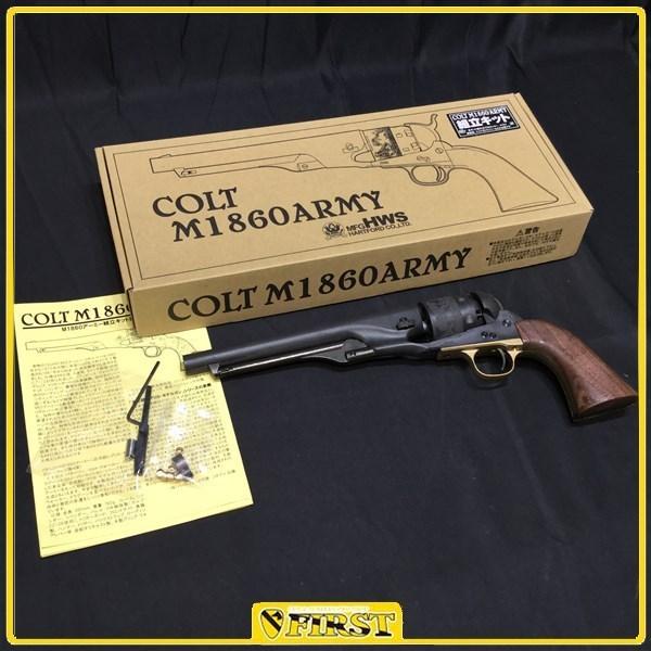 4833】破損アリ HWS製 COLT M1860 ARMY HW樹脂製モデルガン 組み立てキットの完成品 ハートフォード 60アーミー