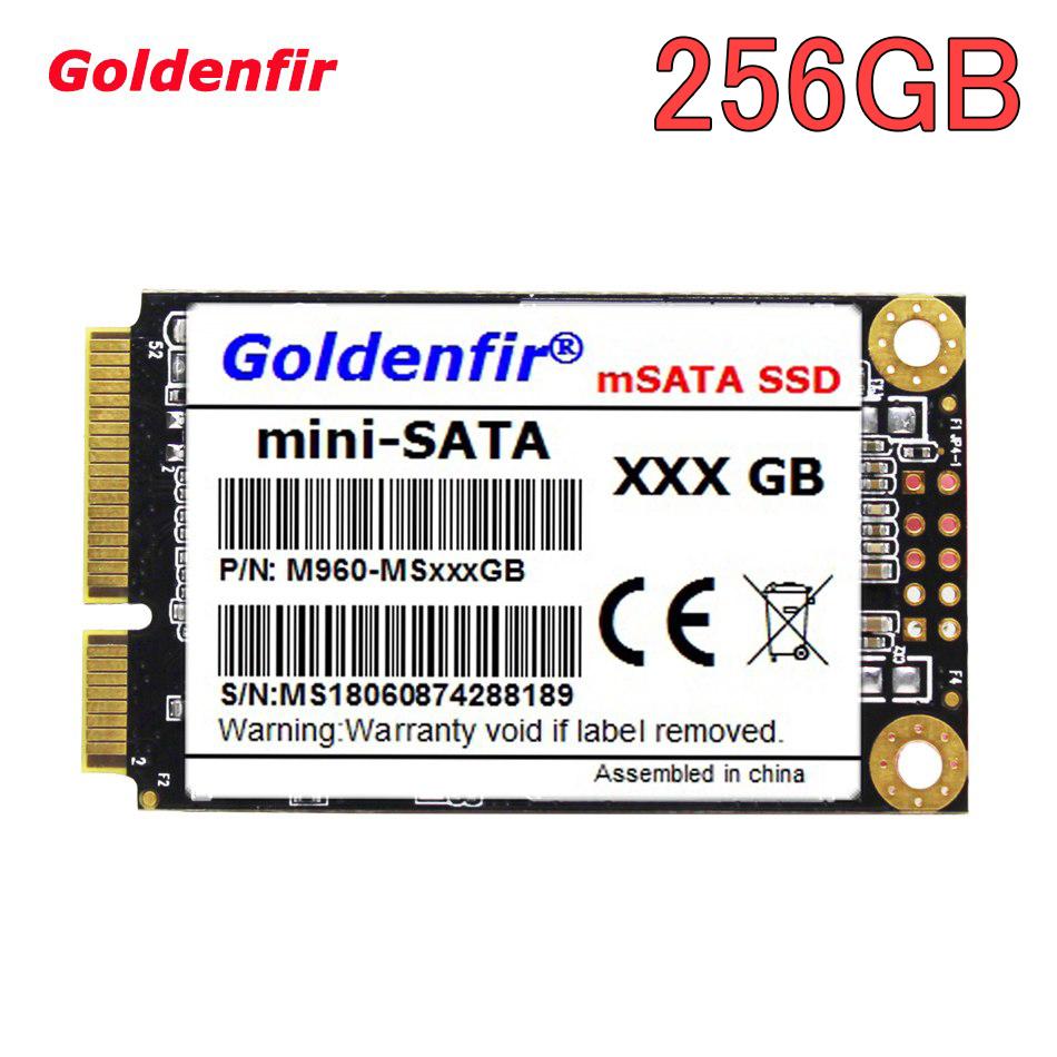【最安値】SSD Goldenfir 256GB mSATA 新品 高速 NAND TLC 内蔵 デスクトップPC ノートパソコン_画像1