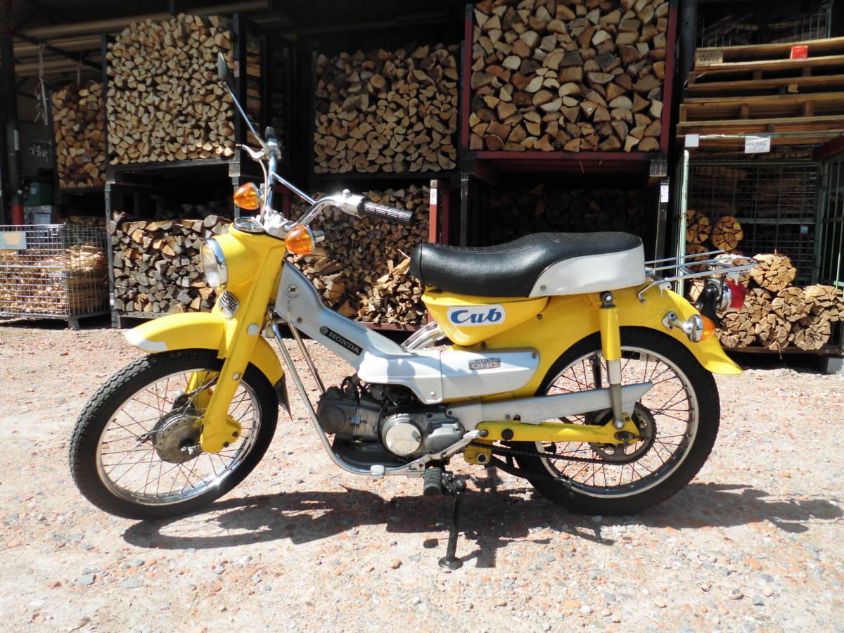 「愛知の薪屋 ハンターカブ CT50 副変速付き 1968年~販売開始 50年位前のバイク 走行距離少ない 希少 綺麗 書類有」の画像1